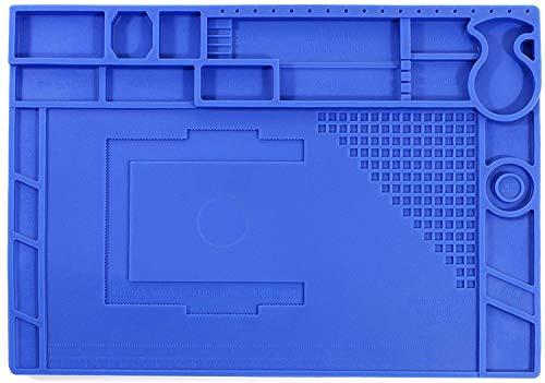 massway Lötmatte Antistatisch Silikonmatte 500℃ Hitzebeständige Handys Reparatur Matte Magnetisch Arbeitsmatte Soldering Mat für Lötpistolen, Löten und Reparatur von Elektronik - 45x 30cm