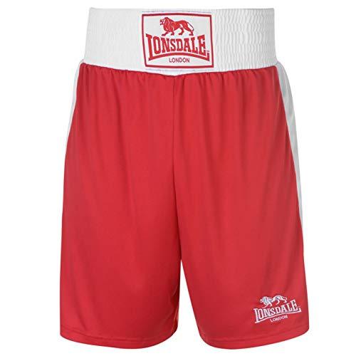 Lonsdale para Hombre Caja Corto Pantalones de boxeo de entrenamiento Sport Gimnasio Wear Rojo multicolor large