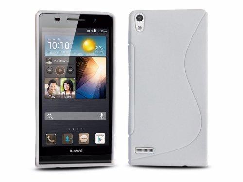 Funda Gel TPU Blanca Huawei Ascend P6 Modelo S Line