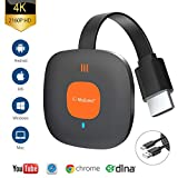 Wireless WiFi Display Dongle HDMI 4K Adaptador HDMI inalámbrico WiFi Display Receiver Soporte Miracast Airplay DLNA para Chromecast / Android / iPhone / iPad /Smartphone / PC/ TV/Monitor / Proyector