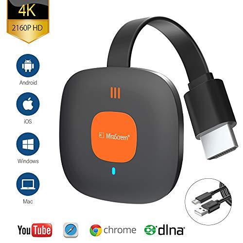 Wireless WiFi Display Dongle HDMI, 5GHz+2.4GHz WiFi Drahtlos Mini Bildschirm teilen Anzeigeempfänger 1080HD, Unterstützung Miracast Airplay DLNA für Android/IOS/PC/TV/Monitor/Projektor