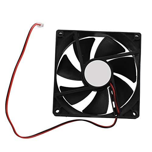 Fltaheroo 90mm x 25mm 12V Ventilador de enfriamiento de 2 Pines para Caja de computador Enfriador de CPU
