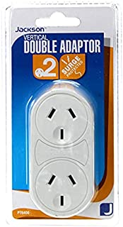 Jackson Vertical Power Double Adaptor with Surge Protection