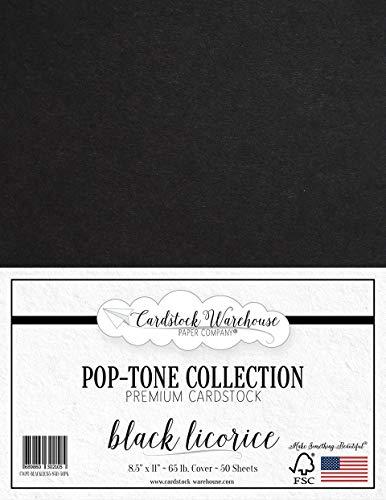 Black Licorice Cardstock Paper - 8.5 x 11 inch