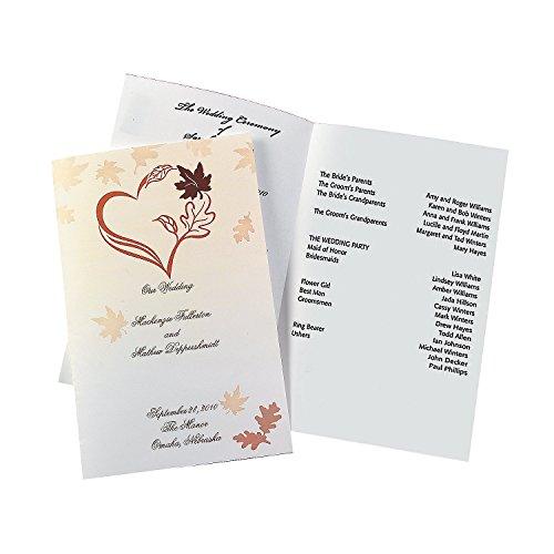 Fall Wedding Programs