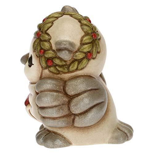 THUN - Gufetto con Corona Laurea e Pergamena - Bomboniere Laurea - Linea Cerimonia - Formato Piccolo - Ceramica - 5 x 5 x 6 h cm