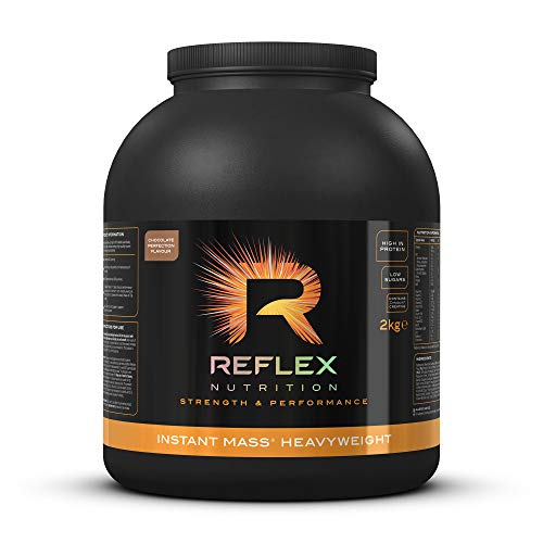 Reflex Nutrition Instant Mass Heavyweight | Mass Protein Powder | Over 1000 Calories Per Serving | 60g Protein | 18 Vitamins (Chocolate, 2kg)