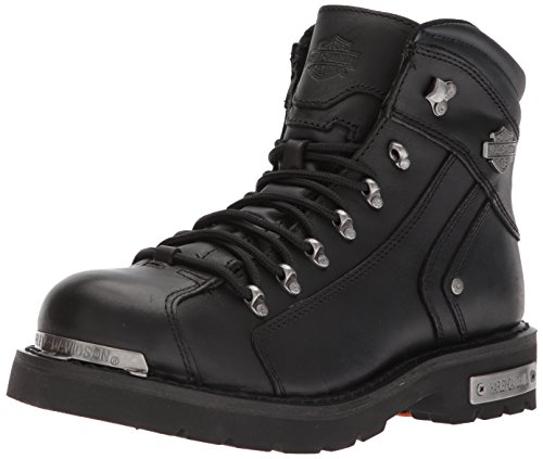 Harley Men's Electron Motorcycle Boot, Black, 10 Medium US