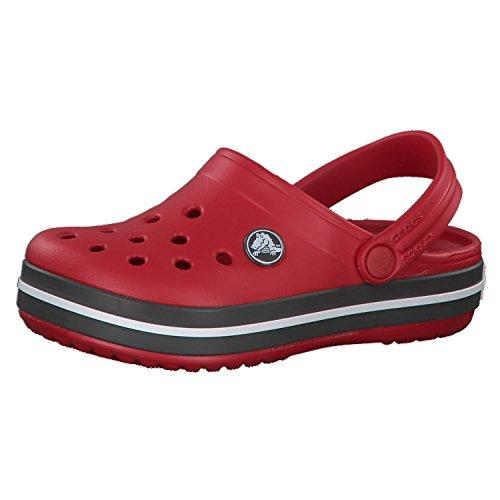 Crocs Crocband Clog Kids, Zoccoli Unisex-Bambini, Rosso (Pepper/Graphite), 29/30 EU