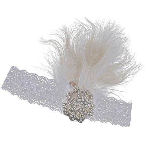Bandeau à Plumes Headpiece Accessoire de Cheveux pour Fête Mascarade