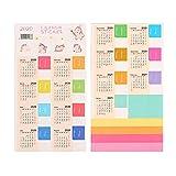 Calendario 2021 Adesivi Calendario mensile Planner adesivo divisore Tabelle indice per diario, agende, taccuino, agenda scolastica (5 fogli)