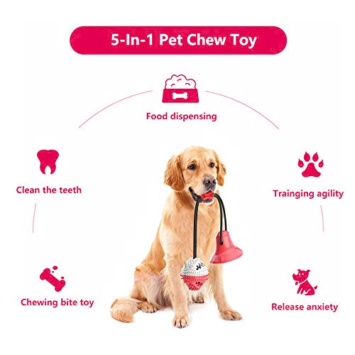 Product Image 4: Suction Cup Dog Chew Toys for Aggressive Chewers. Interactive Rope Tug Toy with Food Dispensing Ball.