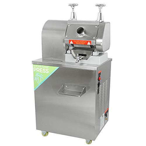 KuKoo Sugar Cane Press Juicer Electric Presser Sugarcane Stainless Steel Heavy Duty Commercial Catering Juice Extractor Machine