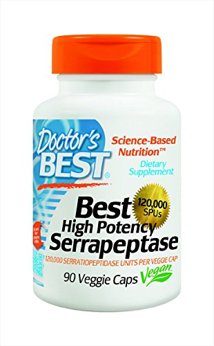 Doctor's Best High Potency Serrapeptase (120,000 Units), 180-Count Pack (yw1tpr)