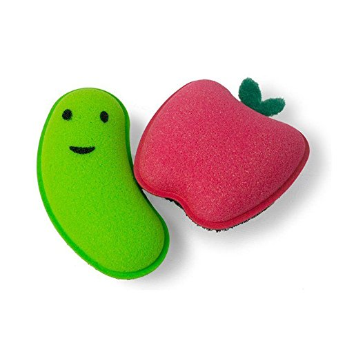 Architec Homegrown Gourmet Produce Scrubbies - Fruit & Vegetable Scrubber 2 Pack