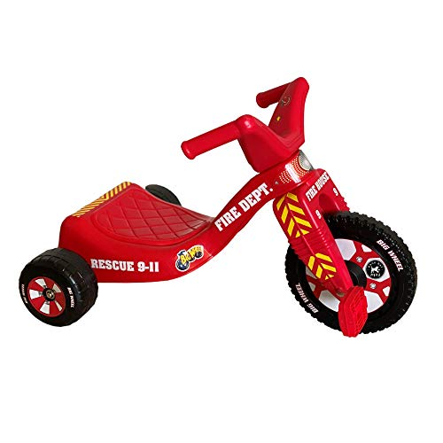 """The Original Big Wheel Firefighter Junior Trike for Boys and Girls - Tricycle Ride-on for Toddlers - 8.5"""" Durable Indoor/Outdoor Toy"""