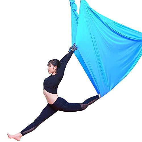 YANGHUI Blue Aerial Yoga Yoga Hängemattensatz, Last Für Inversion Training Pilates Gymnastics 5M,A