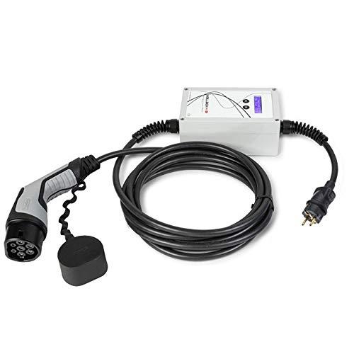 WallboxOk EV Portable Cargador portátil Coches eléctricos Tipo 2 (IEC 62196) - SCHUKO. 16A,1.4-3.7kW