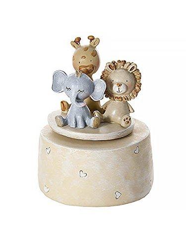 Mousehouse Gifts Scatola Musicale Carillon Animali del Safari per Bimbi e Bimbe, Ideale per Baby Shower e Battesimi