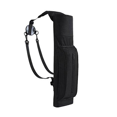 Gazechimp Bogenschießen Köcher - Pfeile Halter Pfeilköcher Rückenköcher mit Verstellbarem Schultergurt, elegant Schwarz