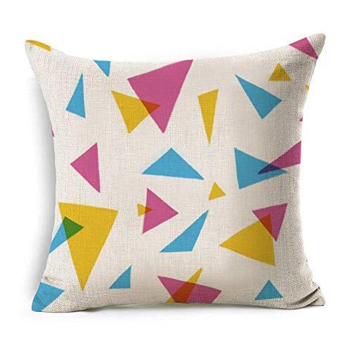 Zlxiong patrón geométrico algodón lino manta almohada funda cojín coche hogar sofá cama decorativo funda cojin, L