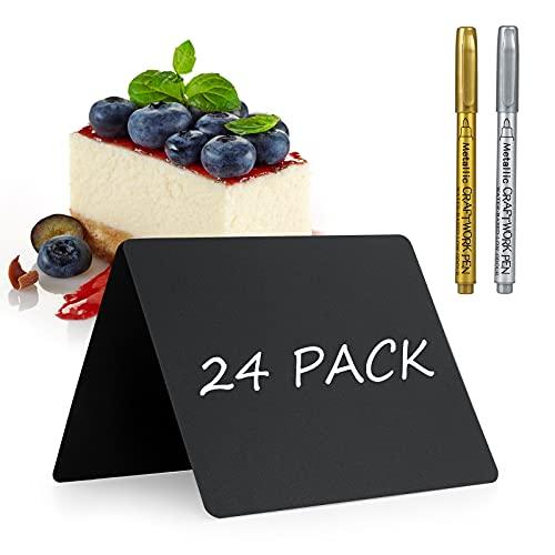 Qiaonato 24 pizarras para escribir precios, para gastronomía, bufé, carteles de precios,...