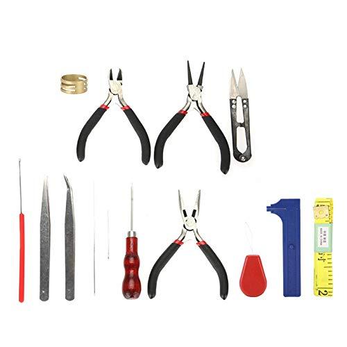 con diferentes herramientas Pinzas para herramientas de joyería Óxido - Acero de alta calidad 14 piezas Juego de herramientas para bricolaje, para hacer regalos para amigos, para hacer joyas