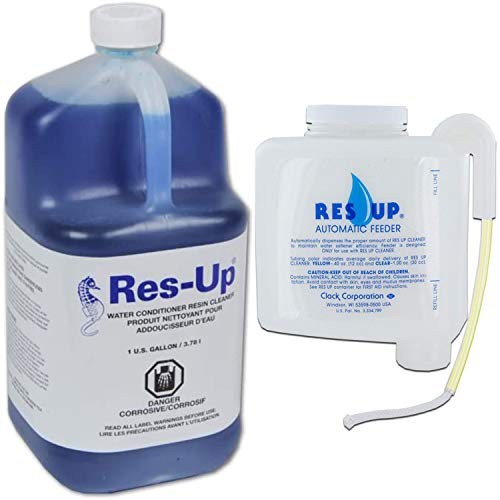 Res-up Gallon with Feeder (0.4oz) - Water Softener Cleaning Solution Bundle - Soft Water Supply