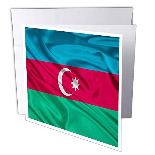 3dRose gc_28222_1 Grußkarte, Motiv Flagge Aserbaidschan, 15,2 x 15,2 cm, 6 Stück