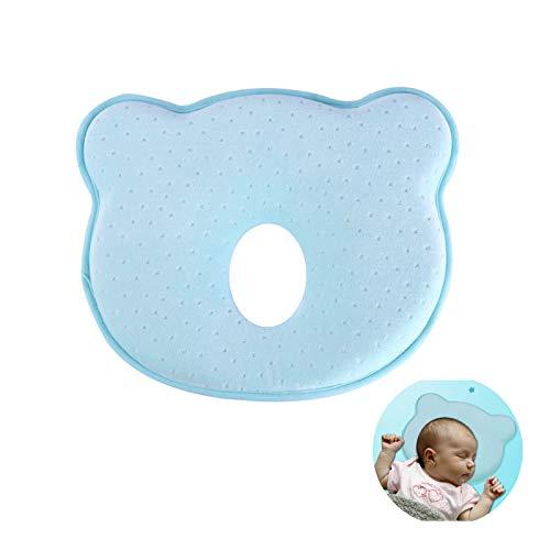 Almohada Bebe Recien Nacido, HOSPAOP Bebé Recién Nacido Almohada,Almohada Que Forma del Bebé Respirable para Prevenir la Cabeza Plana, Almohada del Recién Nacido Corrección.(1 Pcs)