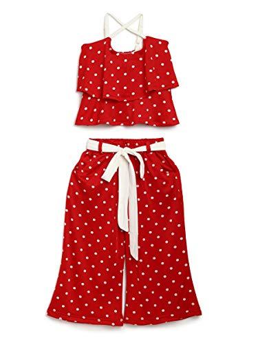 Adiva Top de lunares para niñas y vestido Palazzo