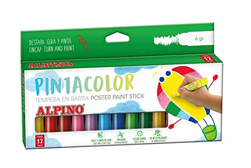 Alpino PX000012 - Témpera sólida, 12 unidades, multicolor