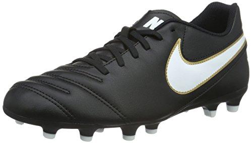 Nike Men's Tiempo Rio III FG (Black/White/Metallic...