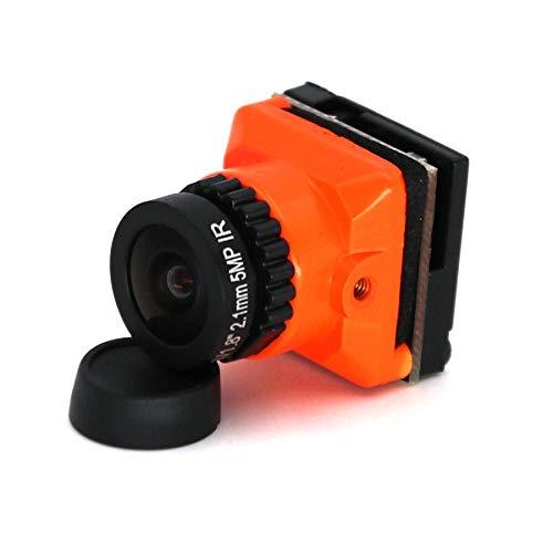 PQZATX Verbesserte HD 1500TVL CCD 2.1Mm Weit Winkel OSD FPV Kamera PAL / NTSC Umschaltbar für RC Quadcopter Modell Rennen Drone Orange