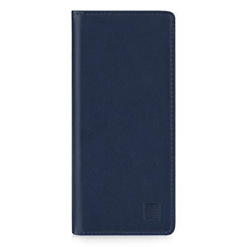 32nd Klassische Series 2.0 - Lederhülle Hülle Cover für Sony Xperia 5 II (2020), Echtleder Hülle Entwurf gemacht Mit Kartensteckplatz, Magnetisch & Standfuß - Marineblau