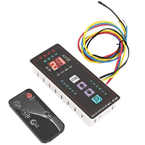 Controlador de termostato digital Tamaño compacto Controlador de temperatura de operación simple Durable Cómodo de usar Oficina para habitación(XD-016 black)