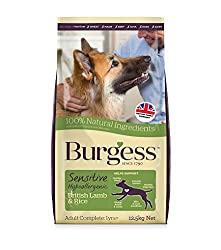 New look, same ideal taste! Burgess Sensitive dog food is made without many of the typical ingredients that can cause sensitivities for dogs. Burgess Sensitive Dry Dog Food Lamb is formulated to support a sensitive tummy. Builds strong bones and join...