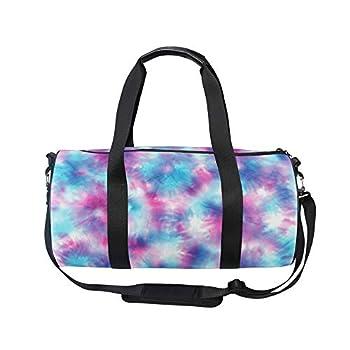 Tie Dye Duffle Bag Sports Travel Luggage Gym Duffel Bag for Girls Kids Boys