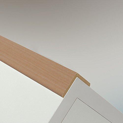 Winkelleiste Schutzwinkel Winkelprofil Tapeten-Eckleiste Abschlussleiste Abdeckleiste aus MDF in Ahorn 2600 x 32 x 32 mm