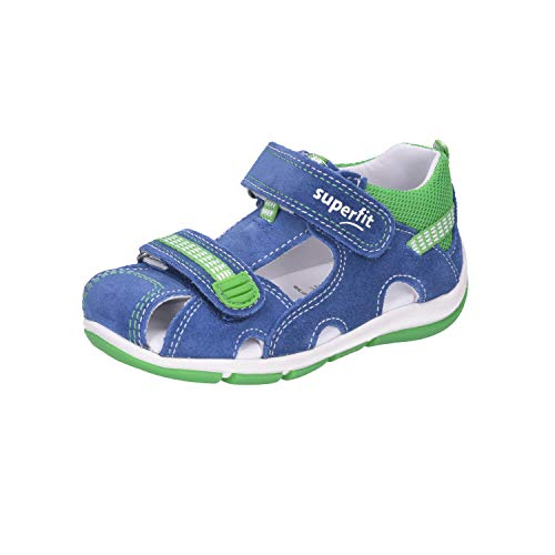 Superfit Baby Jungen FREDDY Sandalen, (Blau/Grün 80), 23 EU