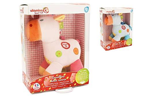 Globo giocattoli 0522626cm vitamina g carillon peluche cavallo, colori assortiti
