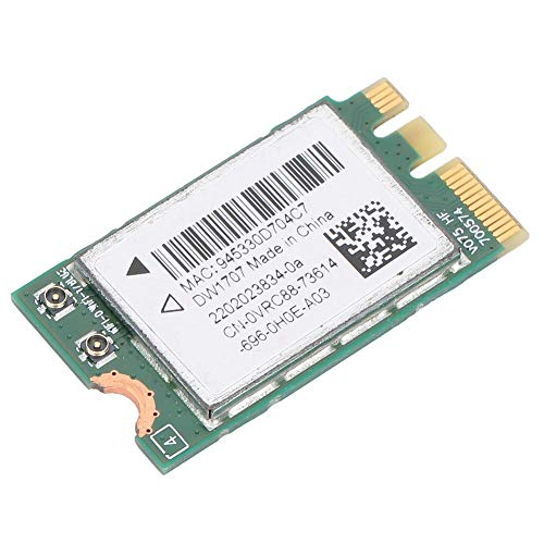 Simlug Durable Wireless Network Card, High Speed Practical NGFF Network Card, Good Compatibility Universal Compact Wireless Dw1707 for Dell