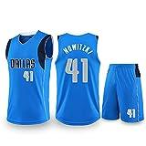 para Dallas Mavericks Smith Dirk Nowitzki Luka Doncic Conjunto de camisetas de baloncesto, Uniforme de entrenamiento de juego , Pantalones cortos de chaleco de Jersey de edición de fan-Nowitzki-XS