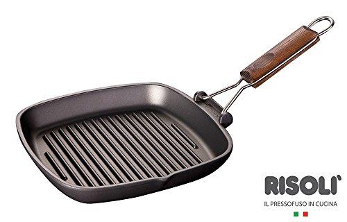 Risoli M93936 - Asador de aluminio fundido mango plegable, 90 20 x 20 x 2.5 cm