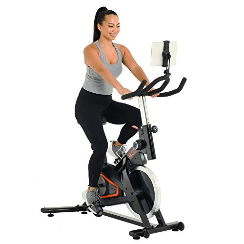 Women's Health Men's Health Eclipse Bluetooth Indoor Cycling Bike with 6 Month Subscription of the MyCloudFitness App (1229), black