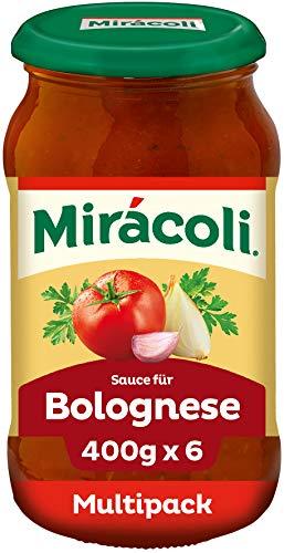 MIRÁCOLI Pasta Sauce für Bolognese, 6 Gläser (6 x 400g)