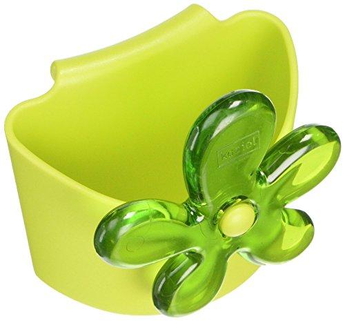 koziol A-PRIL Mini-Tragetasche für Tee & Kaffee, Senfgrün mit transparentem Olivgrün