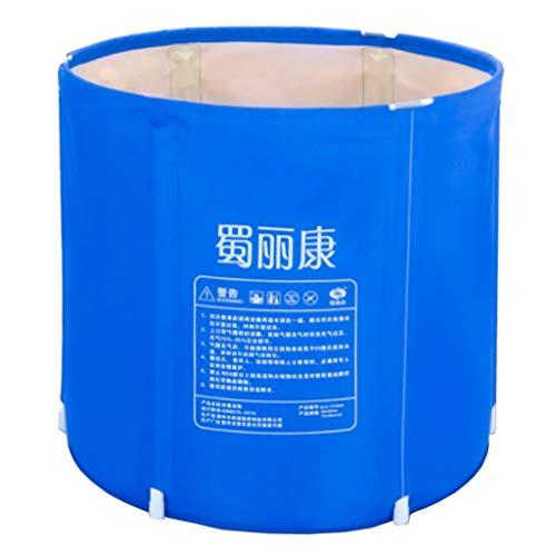 Baignoire Pliante Bain Baril Bain Gonflable Bain Plus épais avec bâche de Protection (Bleu) (Taille : 70cm*68cm)