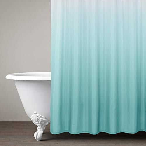 Ombre Shower Curtain Teal for Bathroom Waterproof Gradual...