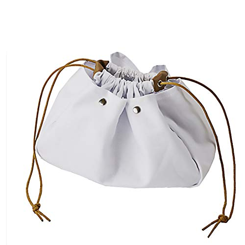 Lazy Portable Drawstring Makeup Bag, Beauty Jewelry Accessories Organizer Canvas Cosmetic Bag for Men Women Vacation Travel Bedroom